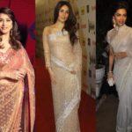 Deepika Padukone, Madhuri Dixit, and Kareena Kapoor Beautiful Transparent Saree