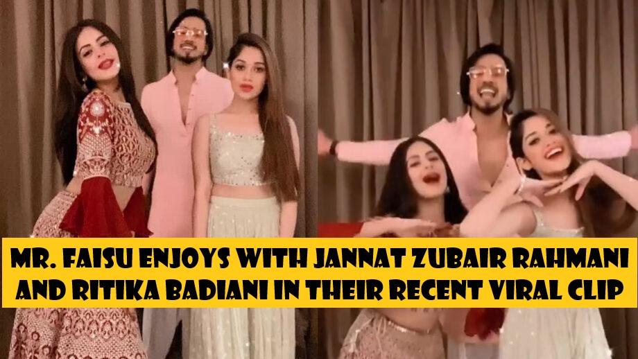 Mr. Faisu enjoys with Jannat Zubair Rahmani and Ritika Badiani