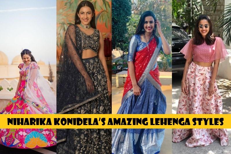 Niharika Konidela's amazing Lehenga styles