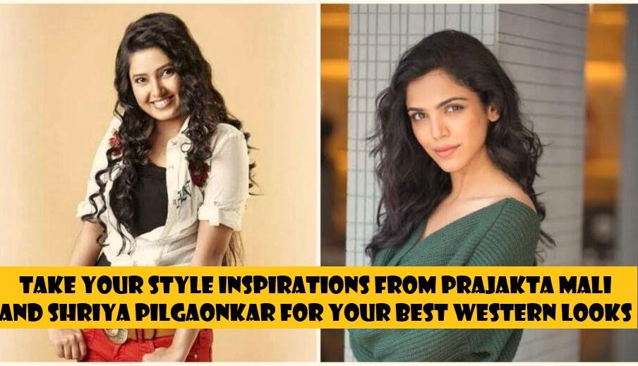 Prajakta Mali And Shriya Pilgaonkar Western Looks