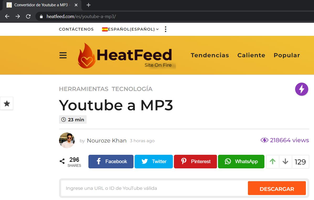 youtube a mp3 heatfeed