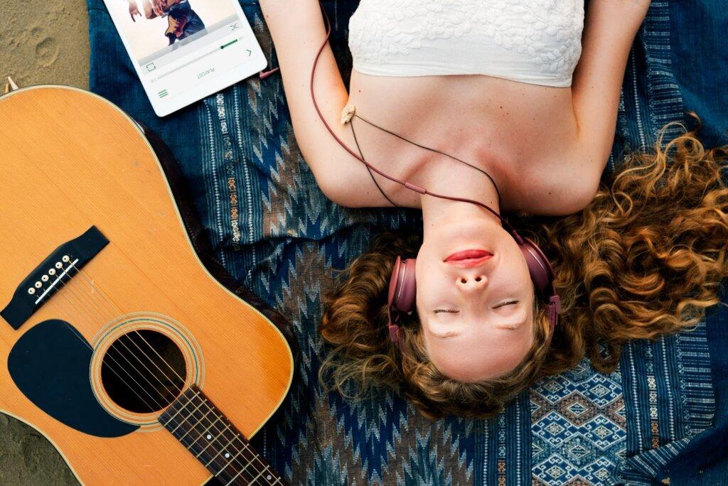 relajación generada por la música mientras duerme