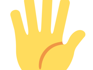 Fingers splayed hand emoji