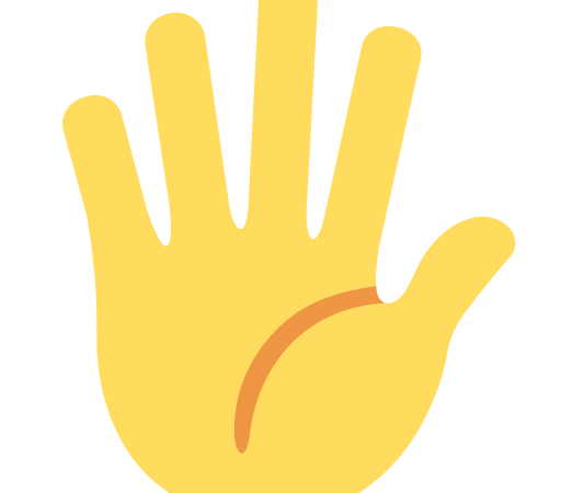 🖐️Hand with Fingers Splayed Emoji