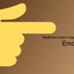 backhand index finger pointing right emoji