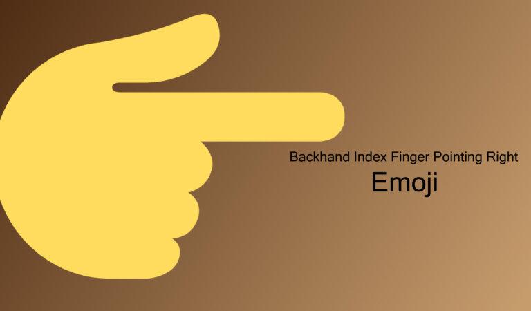 👉Back Hand Pointing Right Emoji