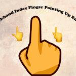 backhand index finger pointing up emoji