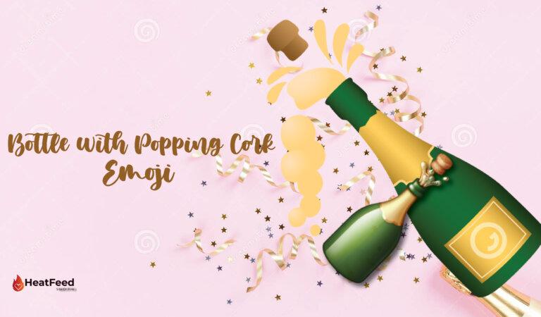 🍾 Bottle With Popping Cork Emoji