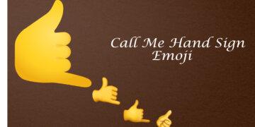 call me hand emoji