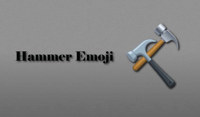 🔨 Hammer Emoji