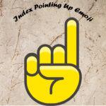 index pointing up emoji