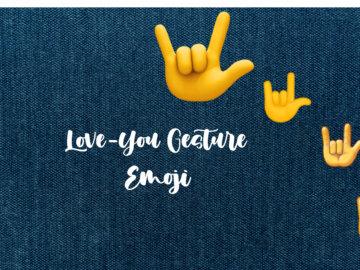 love you gesture emoji