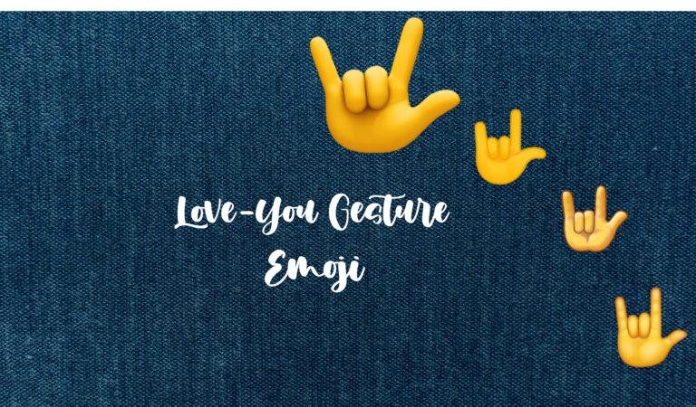 🤟 Love-You Gesture Emoji