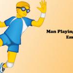 man playing handball emoji