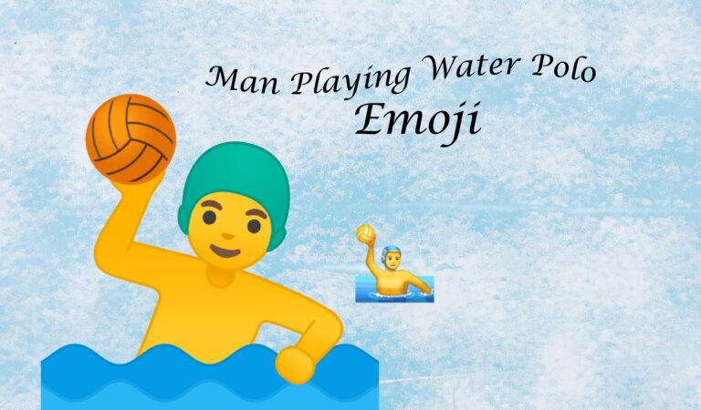 🤽♂️ Man Playing Water Polo Emoji