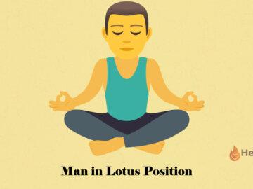 man in lotus position emoji