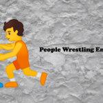 people wrestling emoji