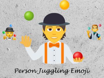 person juggling emoji