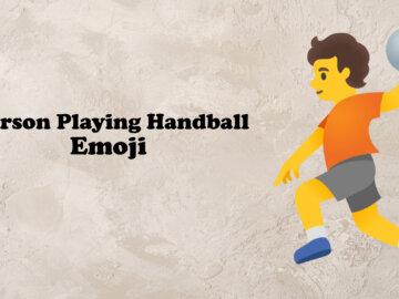 person playing handball emoji