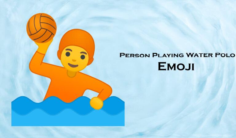 🤽 Person Playing Water Polo Emoji