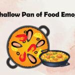 shallow pan of food emoji