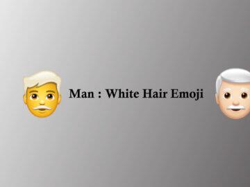 Man: White Hair emoji