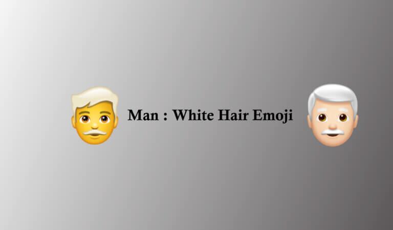👨🦳Man: White Hair emoji