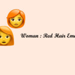 Woman: Red hair emoji