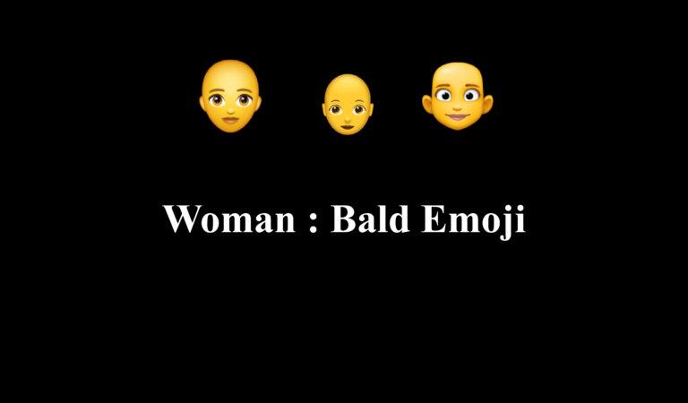 👩🦲 Woman: Bald Emoji