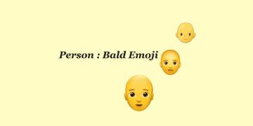 Person Bald emoji