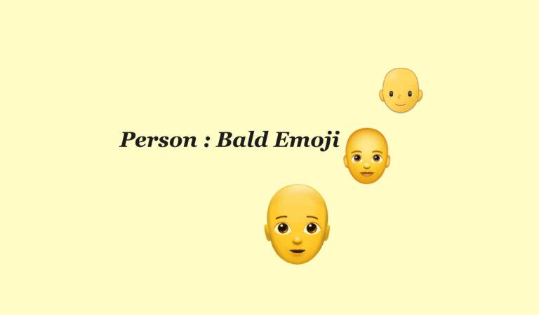 🧑🦲 Person: Bald Emoji