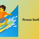 person surfing emoji
