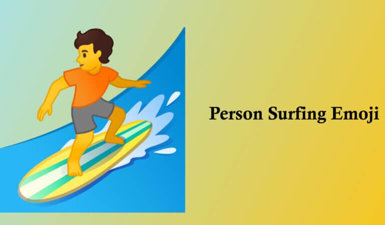 🏄 Person Surfing Emoji