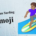 woman surfing emoji