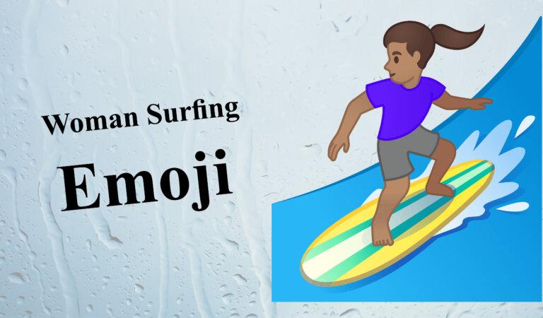 🏄♀️ Woman Surfing Emoji