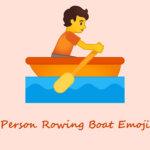 person rowing boat emoji