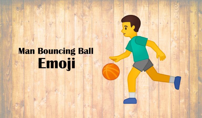 ⛹️♂️ Man Bouncing Ball Emoji
