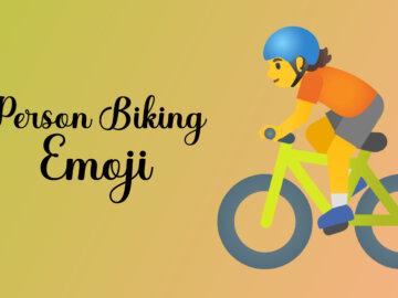 person biking emoji