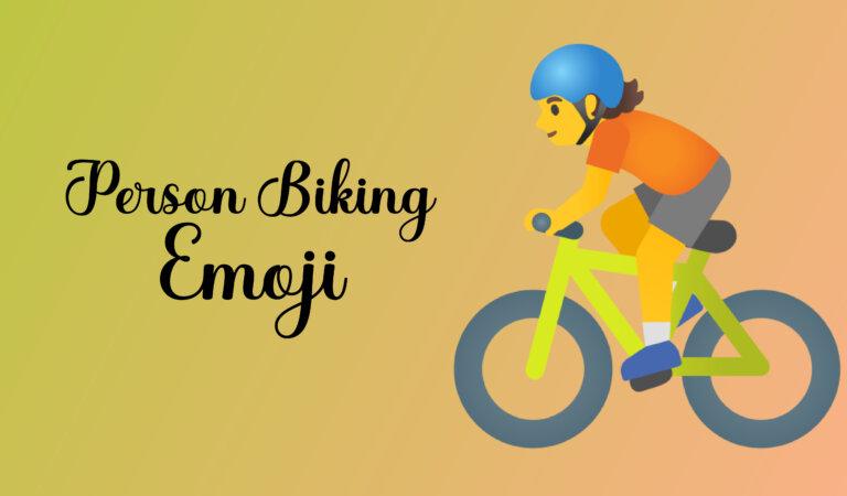 🚴 Person Biking Emoji