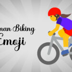 woman biking emoji