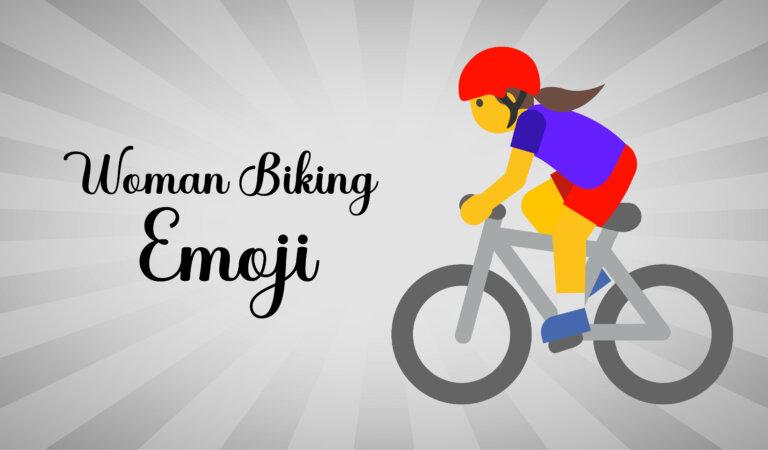 🚴♀️ Woman Biking Emoji