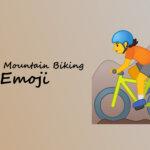 person mountain biking emoji