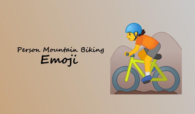 🚵 Person Mountain Biking Emoji