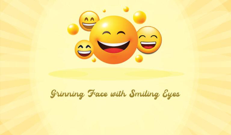 😄 Grinning Face with Smiling Eyes Emoji