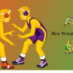 men wrestling emoji