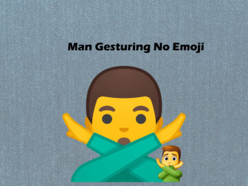 Man Gesturing No Emoji