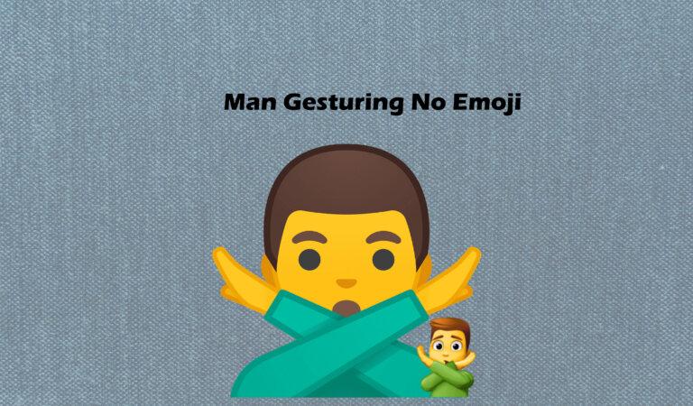 🙅♂️ Man Gesturing No Emoji