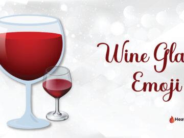wine glass emoji