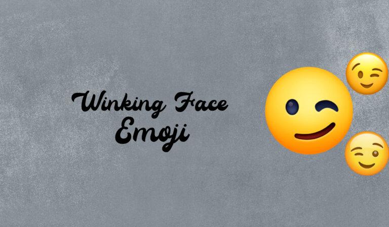 😉 Winking Face Emoji