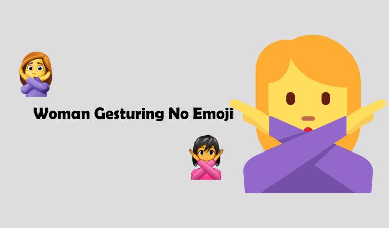 🙅♀️ Woman Gesturing No Emoji